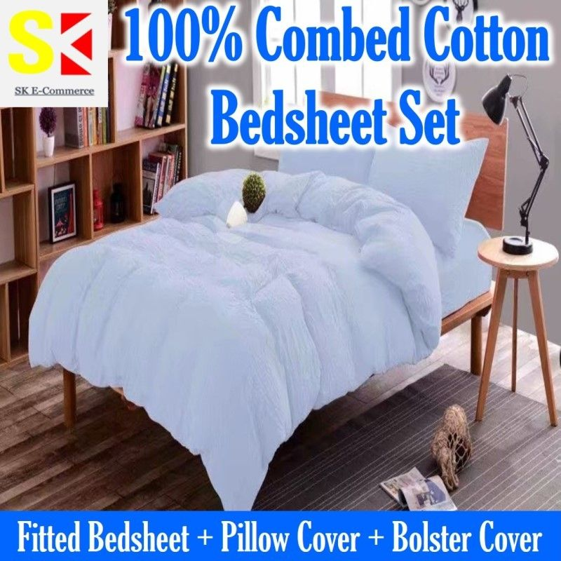 Combed Cotton Bedsheet Set