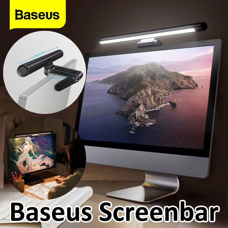 Baseus Led Desk Lamp Adjustable Reading Screen Hanging Light Computer Eye Protection Lamp USB Rechar Deals for only S$16.51 instead of S$71.98