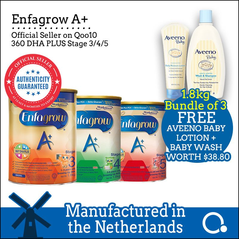 [Enfagrow A+] [3 tins bundle] Stage 3/4/5 1.8kg BEST PRICE Deals for only S$176.85 instead of S$256.95