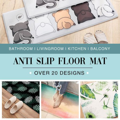 GIFT IDEA|Anti Slip Floor Mat|Thick Flannel Carpet/Bathroom Living Room Kitchen Door Sofa Rug Deals for only S$7.99 instead of S$0