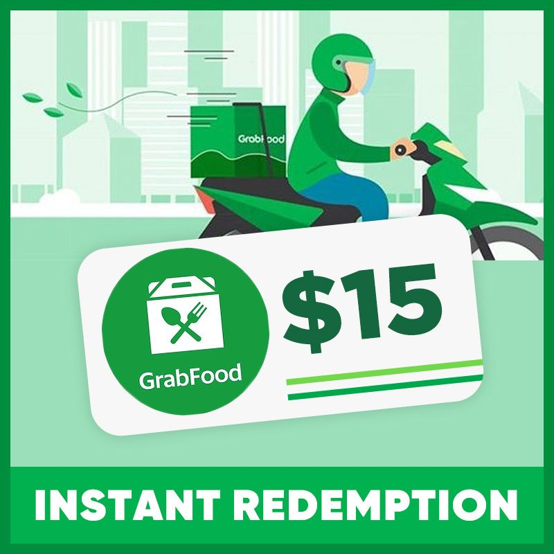 $15 GRAB FOOD VOUCHER | INSTANT REDEMPTION Deals for only S$13.99 instead of S$15