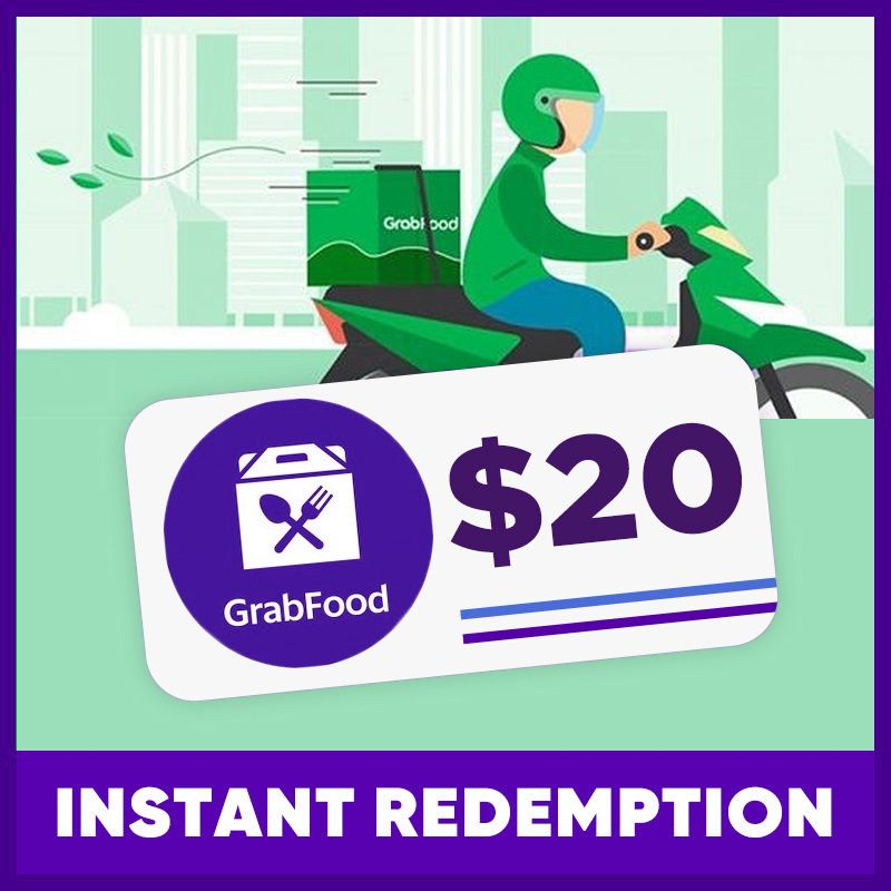 $20 GRAB FOOD VOUCHER | INSTANT REDEMPTION Deals for only S$18.9 instead of S$20