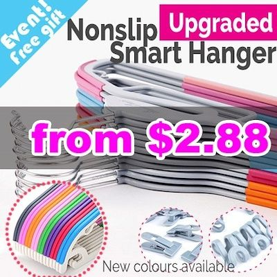 Local Fast delivery  Non slip Smart Hanger / velvet hanger / Clothes Holder /  Non slip hanger