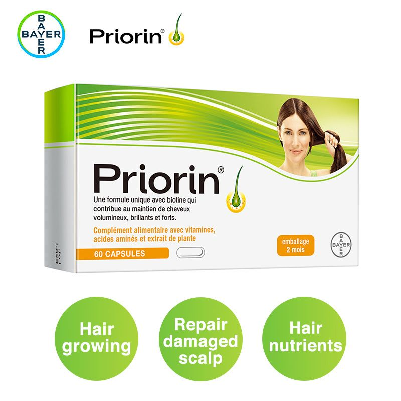 Priorin Soft Gelatine Capsules - 60ct Hair Loss Supplement Biotin Vitamin B5 Nutrients Hair Growth D