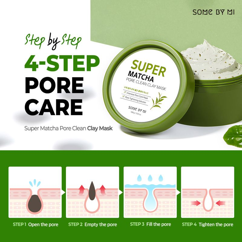 2 DAYS ONLY $11.9[SOME BY MI] SUPER MATCHA PORE CLEAN CLAY MASK