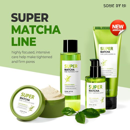 FREE SILICON BRUSH OFFER![SOME BY MI] SUPER MATCHA PORE CLEAN CLAY MASK/TONER/SERUM Deals for only S$9.99 instead of S$49