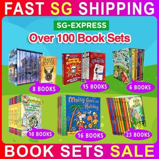 Usborne Library Geronimo Roald Dahl Wimpy Kid Seuss Dog Man Harry Potter Over 100 Book Sets SALE