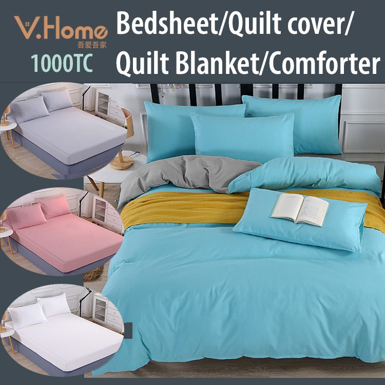 Premium Thicker Material Bedsheet/Quilt cover/Pillow Bolster caseBest Value! Deals for only S$10.8 instead of S$38.8