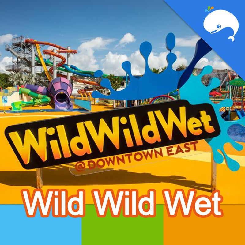 Weekend Go WhereWild Wild Wet Downtown East Water Park one day electronic e ticket admission pass Deals for only S$12.83 instead of S$23.06