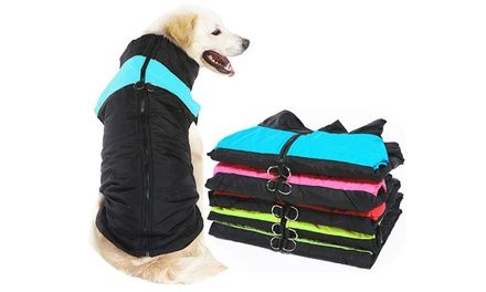 Water Resistant ZipUp Warm Dog Coat