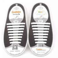 Coolnice No-Tie Silicone shoelace 8 pairs WHITE Deals for only ₱195 instead of ₱195