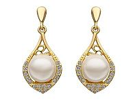 18K Plated Elegant White Pearl Earrings Deals for only RM71.58 instead of RM254.84