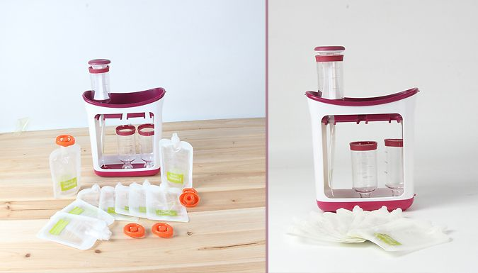 Make Your Own Baby Food Effortlessly With The Baby Food Maker Set With Optional Storage Bags From As Little As £3.99