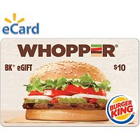 Burger King $10 Gift Card (email Delivery)