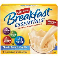 Carnation Breakfast Essentials Nutritional Drink Powder, Classic French Vanilla, 1.26 Oz. Packets, 10 Ct Deals for only $4.33 instead of $4.33