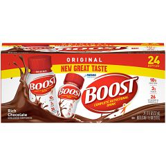 Boost Original Complete Nutritional Drink, Rich Chocolate, 8 fl oz Bottle, 24 Count Deals for only $26.67 instead of $26.67
