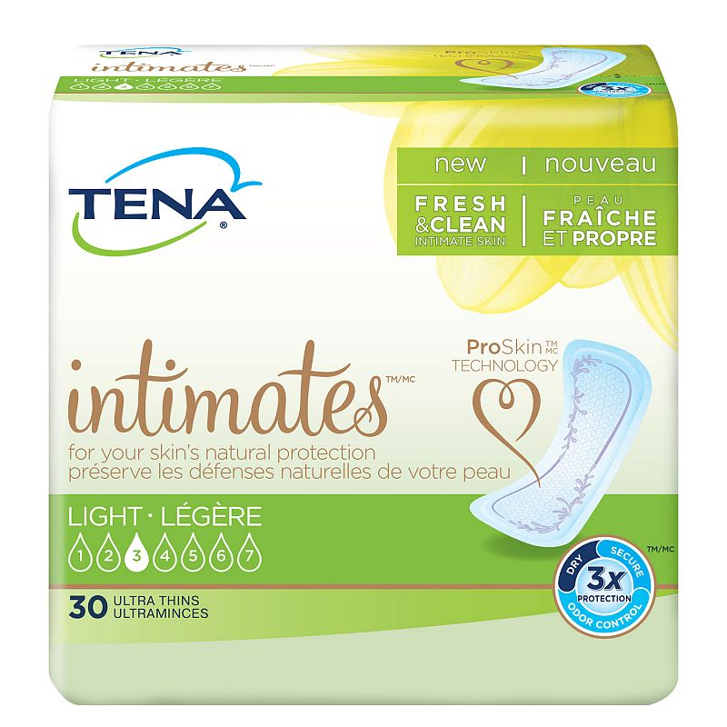 Tena Ultra Thin Light Incontinence Pad Regular, 30 Ct Deals for only $7.29 instead of $7.29