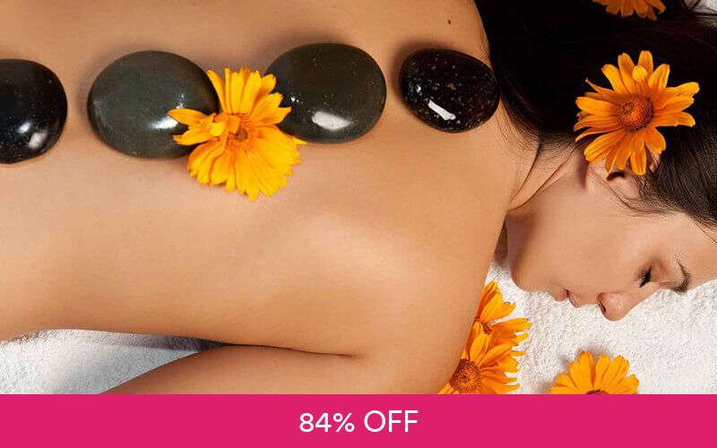 1.5-Hour Intensive Ovary + Back Treatment with Hot Stone and Hot Mask for 1 Person at Lavines Face. Slimming. Spa