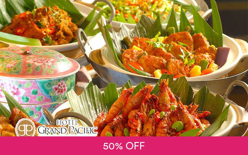 (Sat - Sun) Peranakan Lunch Buffet for 2 People at Sun's Cafe @ Hotel Grand Pacific