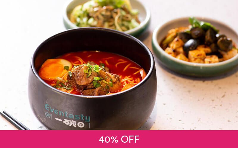 $30 Cash Voucher for Noodles at Eventasty Deals for only S$18 instead of S$30