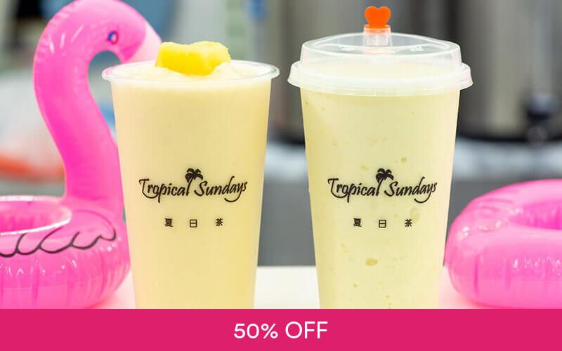 1-For-1 Smoothie at Tropical Sundays Deals for only S$6 instead of S$12