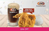 Januari Coupon: Paket Golden / Spicy Aroma Chicken untuk 1 Orang at A&W Restoran Khas Amerika Deals for only Rp29.000 instead of Rp41.000