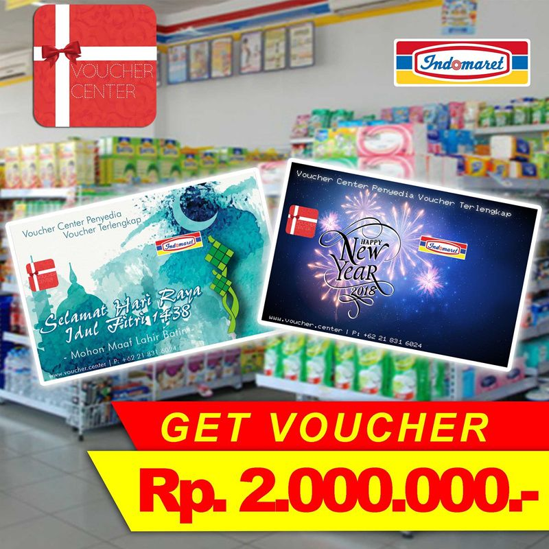Voucher Indomaret Rp.2.000.000 Deals for only Rp2.276.000 instead of Rp2.500.000